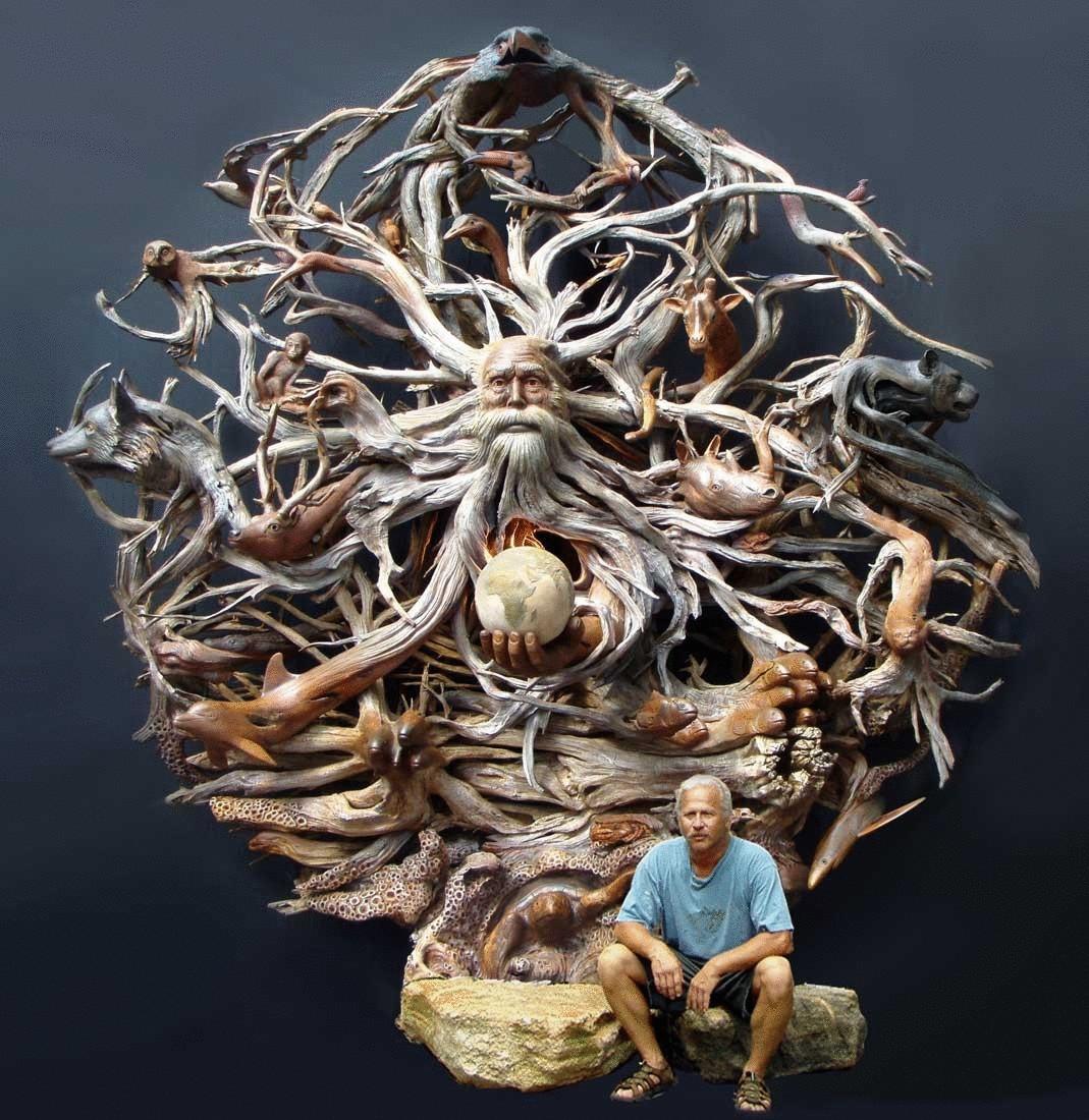 самая сложная скульптура из дерева