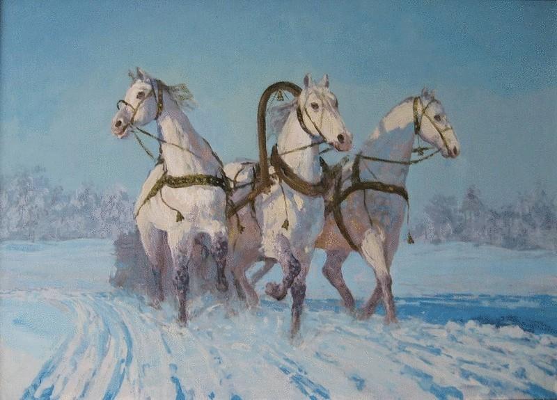 Картинки троица лошадей