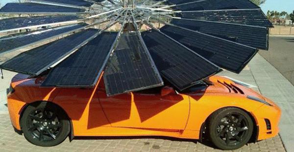 Зарядка для электромобилей «Солнечный цветок»