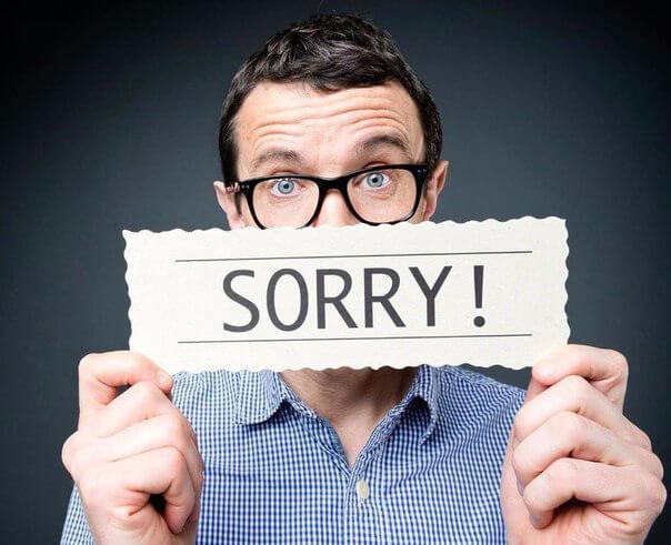 Идеальное извинение: признание ответственности и совершенной ошибки