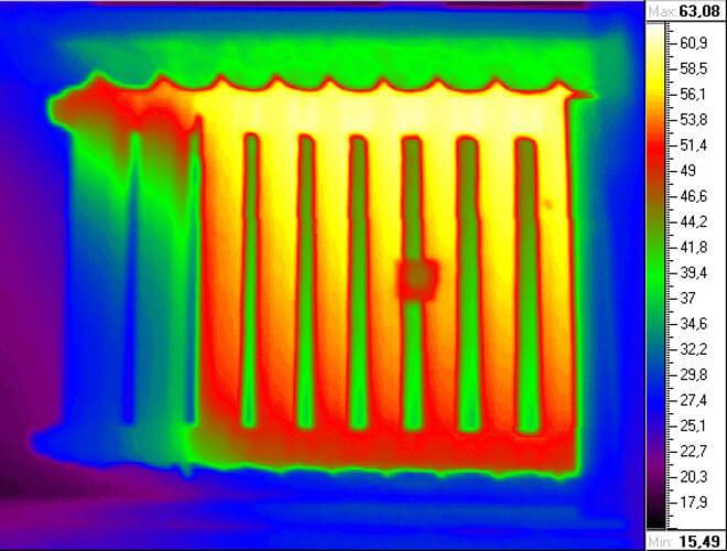 картинка с тепловизора батарея совсем недавно