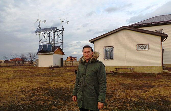 Житель краснодарского поселка построил мини-электростанцию