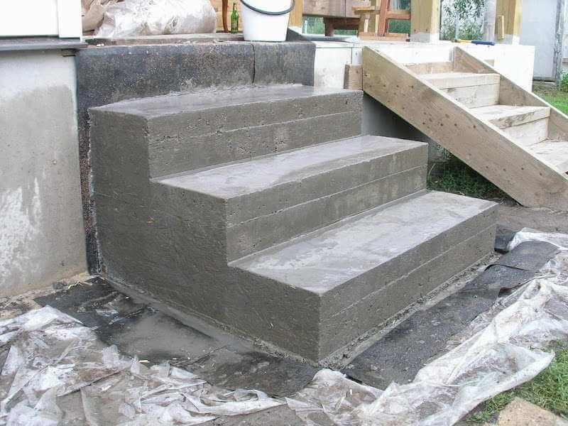 бетонные ступеньки для крыльца