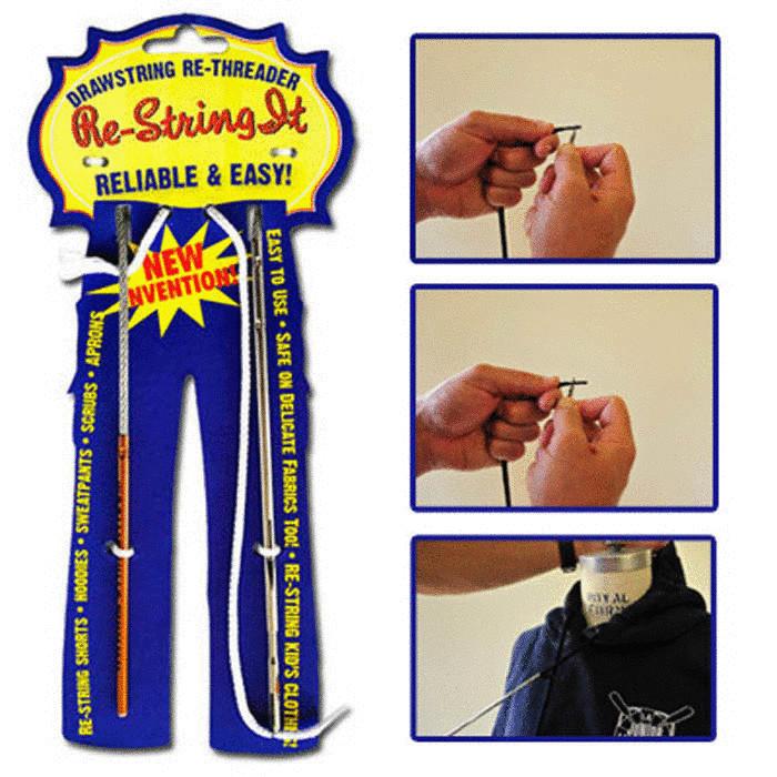 Иголка, которая поможет вернуть на мест шнур толстовки.