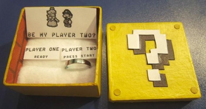 Представить, как бы Марио сделал предложение принцессе Пич.