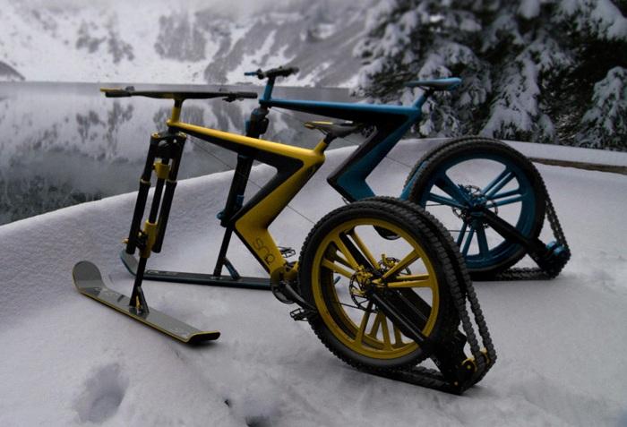 Велосипед на лыжах своими руками